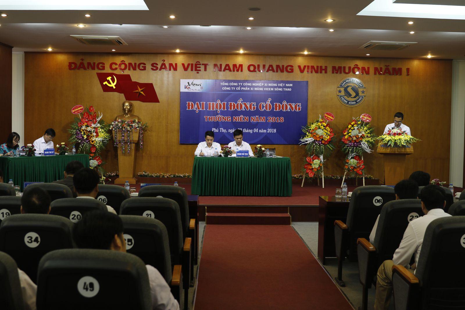 Công ty cổ phần xi măng Vicem Sông Thao tổ chức thành công Đại hội đồng cổ đông thường niên năm 2018